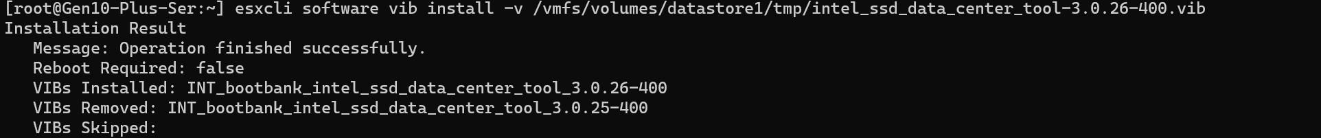 SSD tool install